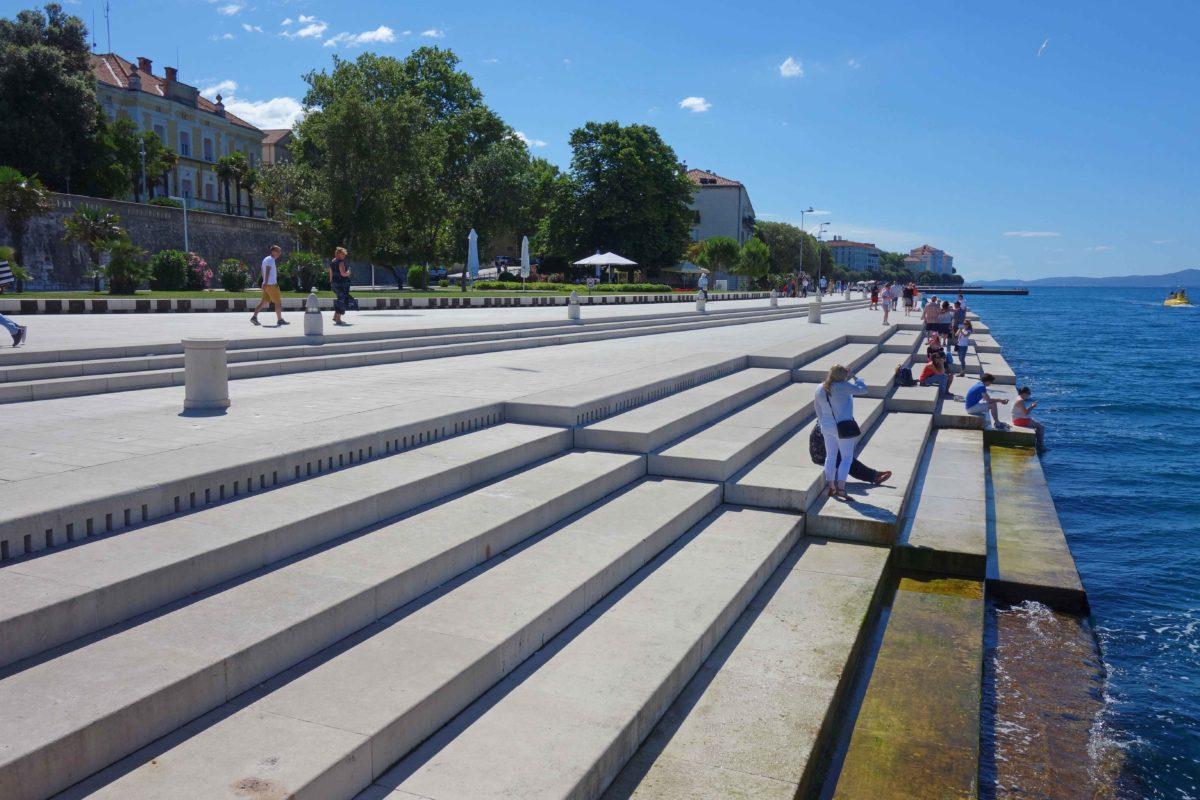 Das Meer spielt die Meeresorgel von Zadar