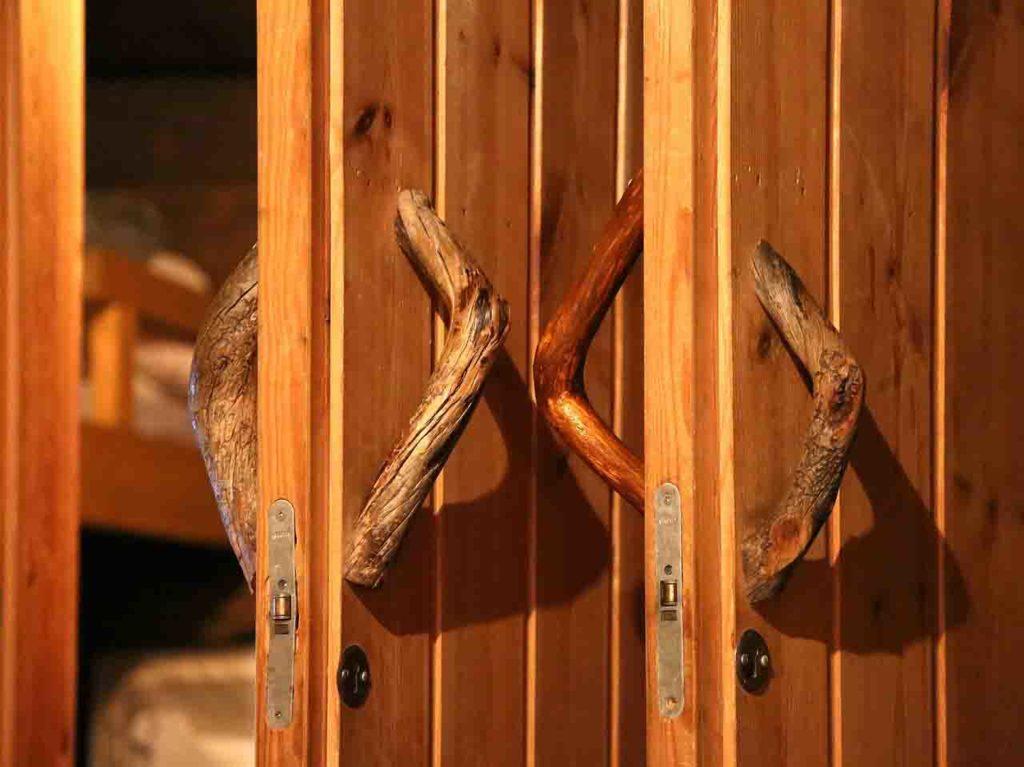 Blockhütte Finnland Sauna