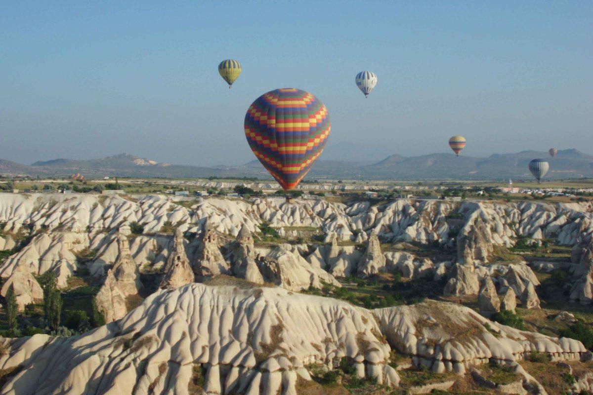 Ballonfahrt in Kappadokien im Morgengrauen