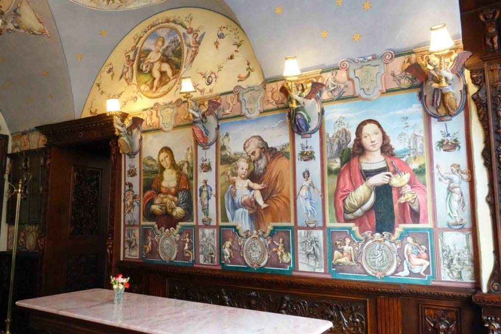Wandgemälde in der Konditorei Kormuth