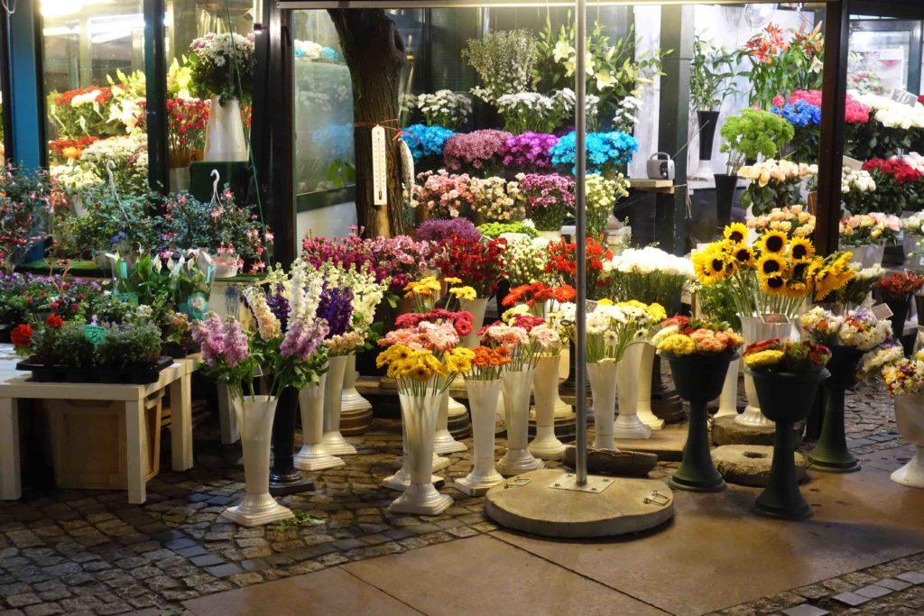 Blumen auf dem Salzmarkt Breslau