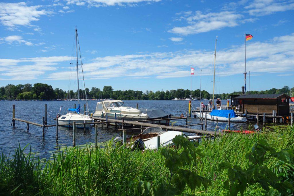Boote an der Havel in Berlin