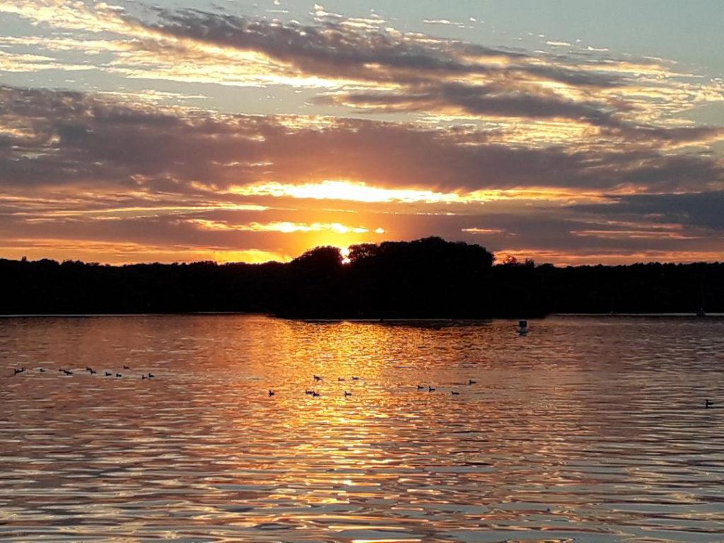 Sonnenuntergang am Tegeler See, Berlin