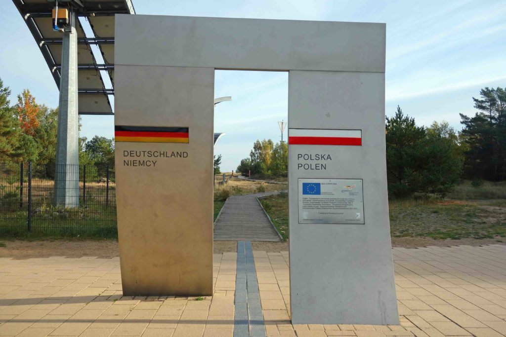 Deutsch-polnische Grenze auf Usedom