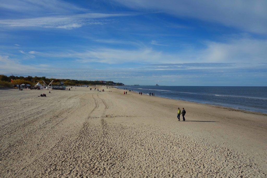 Breiter Sandstrand auf Usedom