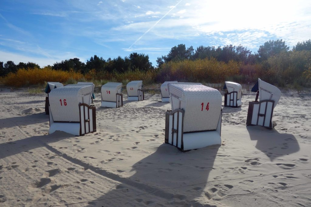 Strandkörbe auf Usedom