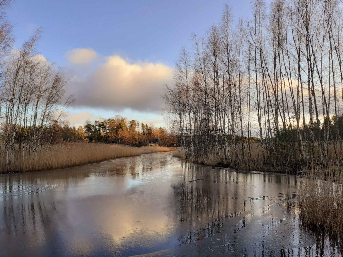 Silvester in Finnland unter dem Sternenhimmel auf Pellinki