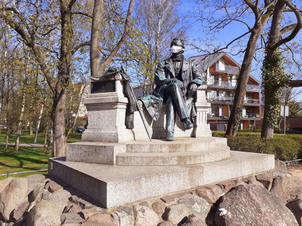 Fontane Denkmal in Neuruppin
