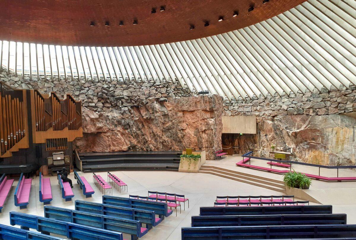 Felsenkirche Helsinki: imposante Temppeliaukion Kirkko