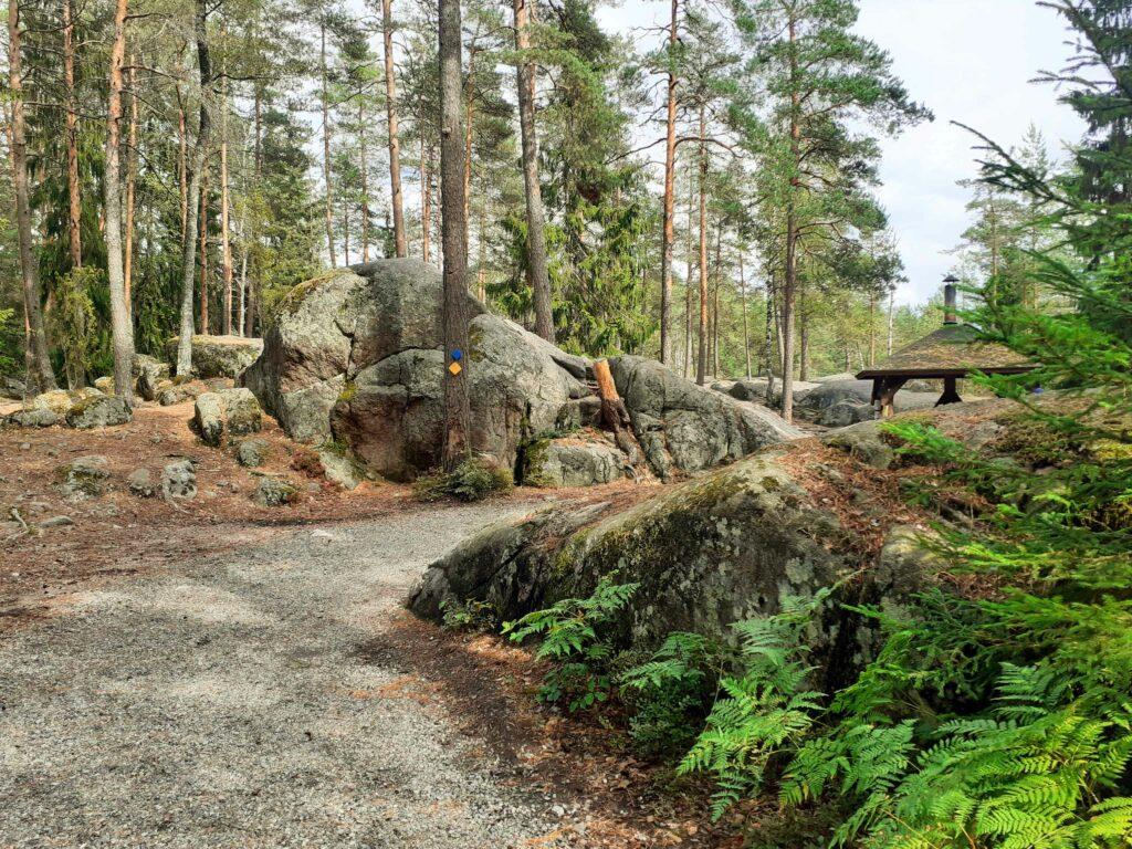 Wanderweg in Nuuksio